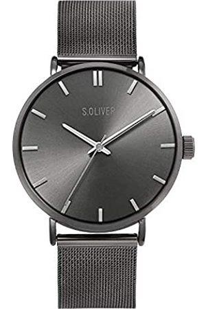 s.Oliver Hombre Relojes - Reloj Analógico para Hombre de Cuarzo con Correa en Acero Inoxidable SO-4223-MQ