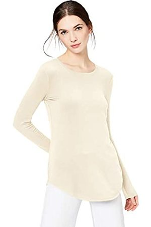 Daily Ritual Mujer Blusas - Supersoft Terry Long-Sleeve Shirt with Shirttail Hem camisa