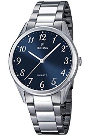 Festina Hombre Relojes - Reloj de Hombre de Cuarzo con Esfera Analógica Pantalla y Plata Pulsera de Acero Inoxidable F16875/2