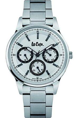 Lee Cooper Reloj analógico para Hombre de Cuarzo con Correa en Metal LC06669