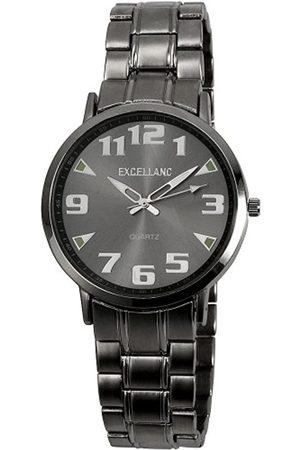 Excellanc 280022500136 - Reloj analógico de caballero de cuarzo con correa de aleación plateada