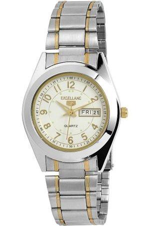 Excellanc 284112000022 - Reloj analógico de caballero de cuarzo con correa de aleación