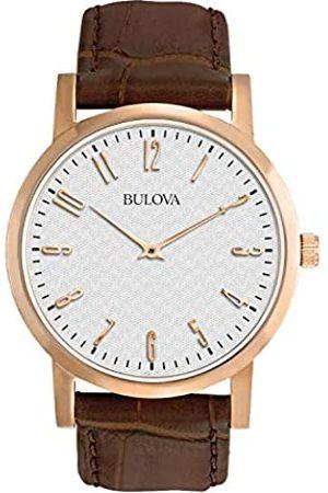 BULOVA Hombre Relojes - Reloj de Pulsera para Hombre (Mecanismo de Cuarzo, Esfera Color Gris y Correa de Piel Color )