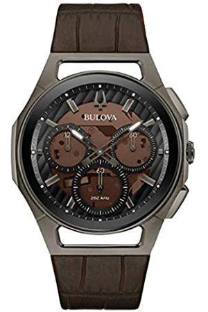 BULOVA Hombre Relojes - Reloj Cronógrafo para Hombre de Cuarzo con Correa en Cuero 98A231