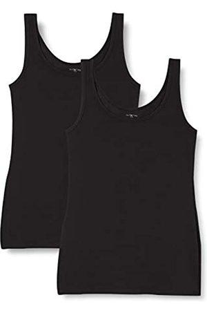 IRIS & LILLY Camiseta de Tirantes de Algodón para Mujer, Pack de 2, 2 x