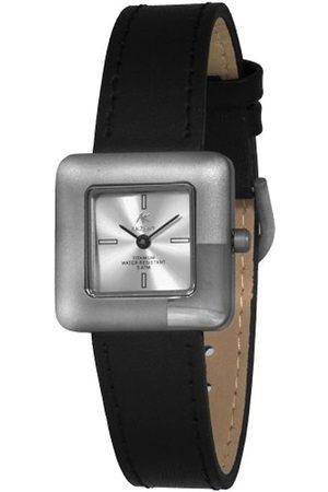 Akzent 321522819003 - Reloj analógico de mujer de cuarzo con correa de piel negra - sumergible a 30 metros