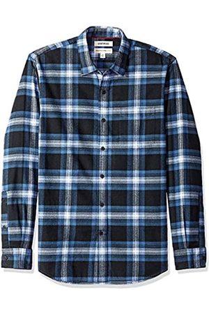Goodthreads Marca Amazon - - Camisa de franela cepillada de manga larga y corte estándar para hombre
