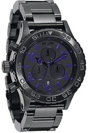 Nixon Hombre Relojes - A037714-00 - Reloj cronógrafo de Cuarzo para Hombre con Correa de Acero Inoxidable