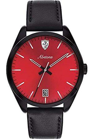 Scuderia Ferrari Reloj Analógico para Hombre de Cuarzo con Correa en Cuero 830499