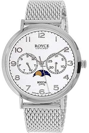 Boccia Hombre Relojes - Reloj Analógico para Hombre de Cuarzo con Correa en Acero Inoxidable 3612-04