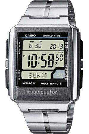 Casio Hombre Relojes - WAVE CEPTOR Reloj Radiocontrolado, Caja de acero inoxidable y resina, , para Hombre, con Correa de Acero inoxidable