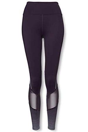 AURIQUE Amazon Brand - Leggings de running moldeadores de cintura alta para mujer, Morado (Nightshade), 36