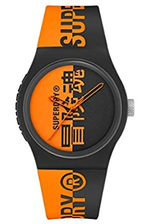 Superdry Hombre Relojes - Reloj Analógico para Hombre de Cuarzo con Correa en Silicona SYG346BO
