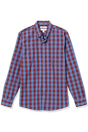 Goodthreads Hombre Casual - Slim-Fit Long-Sleeve Large-Scale Check Shirt Camisa