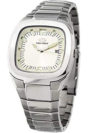 TIME FORCE Hombre Relojes - Reloj Analógico para Hombres de Cuarzo con Correa en Acero Inoxidable TF2576J-03M