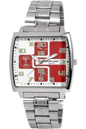 Excellanc 280025000139 - Reloj analógico de caballero de cuarzo con correa de aleación plateada