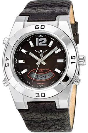 CHIEMSEE Hombre Relojes - CW-0002-LQ - Reloj de Caballero de Cuarzo, Correa de Piel Color (con Alarma, cronómetro, día, Fecha