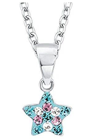 Prinzessin Lillifee Mujer Collares - Collar infantil con colgante de plata 925 rodanizada, cristal, diseño de estrella