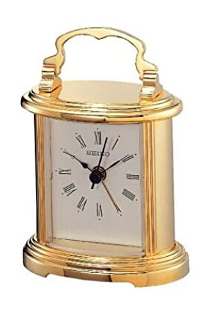 Seiko Clocks QHE109G - Reloj analógico unisex de cuarzo