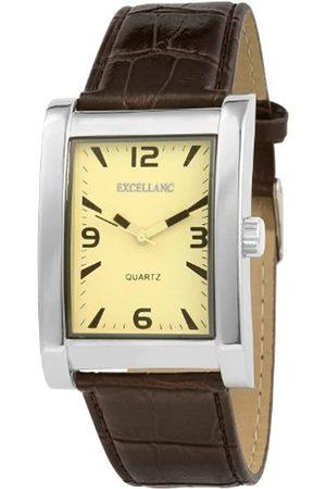 Excellanc Hombre Relojes - 292027500185 - Reloj analógico de caballero de cuarzo con correa de piel