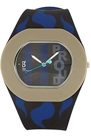B360 Reloj analógico para Unisex de Cuarzo con Correa en Silicona B Proud Inter Milan