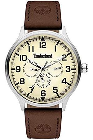 Timberland Hombre Relojes - Reloj Multiesfera para Hombre de Cuarzo con Correa en Cuero TBL15270JS.14