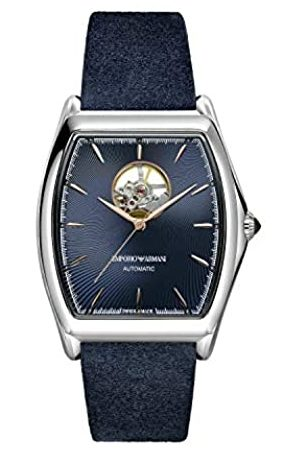 Emporio Armani Hombre Relojes - Reloj Analógico para Hombre de Automático con Correa en Cuero ARS3354