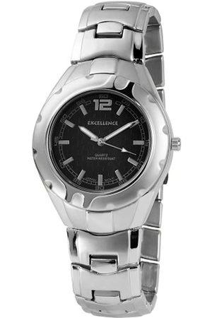 Excellanc Hombre Relojes - 280023000111 - Reloj analógico de caballero de cuarzo con correa de aleación plateada