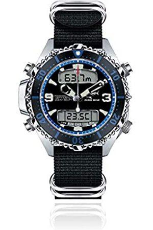 Chris Benz Hombre Relojes - Reloj para Hombre de Cuarzo con Correa en Nailon CB-D200X-B-NBS