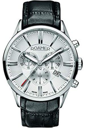 Roamer Hombre Relojes - 508837 41 15 05 - Reloj cronógrafo de cuarzo para hombre con correa de piel
