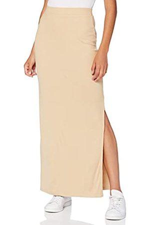 MERAKI Marca Amazon - Falda Maxi Slim Fit Mujer, Beige (bronceado claro)., 48