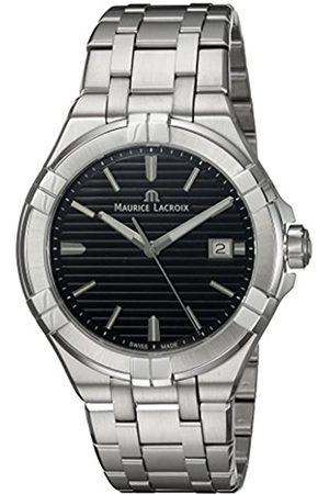 Maurice Lacroix Reloj Analógico para Hombre de Cuarzo con Correa en Acero Inoxidable AI1008-SS002-331-1