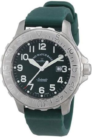Zeno Hombre Relojes - Hercules 2 2554-a8 - Reloj analógico automático para Hombre, Correa de Goma Color (Agujas luminiscentes