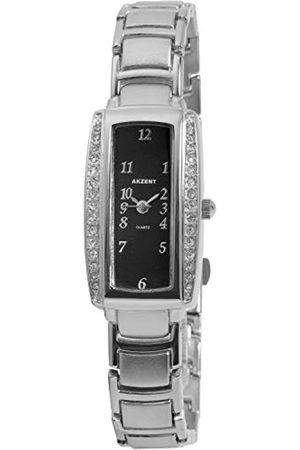 Akzent Mujer Relojes - SS7121000049 - Reloj analógico de mujer de cuarzo con correa de aleación plateada - sumergible a 30 metros