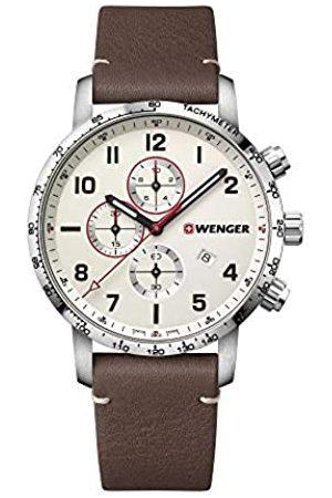 Wenger Hombre Relojes - Hombre Attitude Chronograph - Reloj de Acero Inoxidable de Cuarzo analógico de fabricación Suiza 01.1543.113