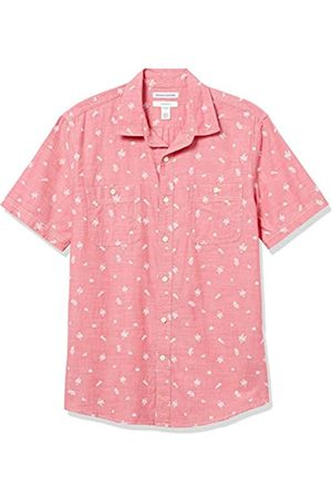 Amazon Hombre Casual - Slim-Fit Short-Sleeve Chambray Shirt Button-Down-Shirts XS