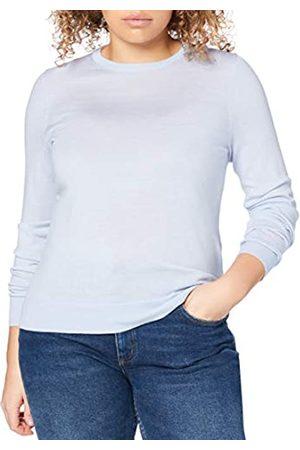 MERAKI Mujer Jerséis y suéteres - Marca Amazon - Jersey de Merino Mujer Cuello Redondo, (Light Blue), 46