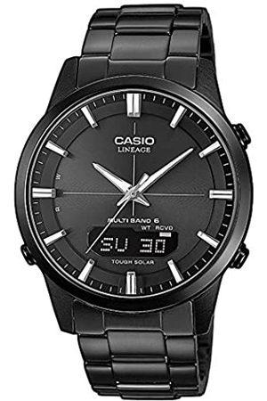 Casio WAVE CEPTOR Reloj Radiocontrolado y solar, Cristal de zafiro, Caja sólida, , para Hombre, con Correa de Acero inoxidable macizo