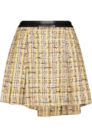 Natasha Zinko Minifalda de tweed con pliegues