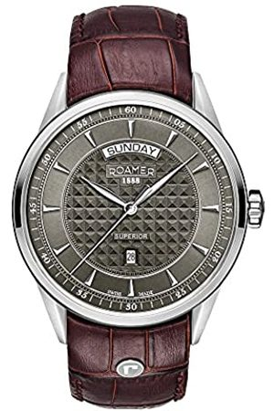 Roamer Hombre Relojes - Reloj Analógico para Hombre de Cuarzo con Correa en Cuero 508293 41 05