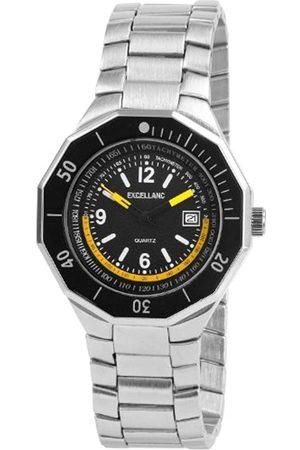Excellanc 284021100112 - Reloj analógico de caballero de cuarzo con correa de aleación plateada