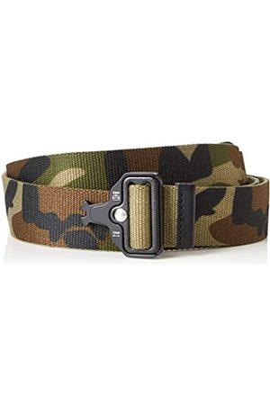 FIND Marca Amazon - Cinturón Estilo Militar Hombre, Pack de 2, S