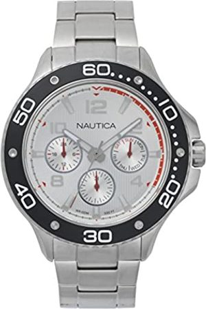 Nautica Hombre Relojes - RelojAnalogicoparaHombredeCuarzoconCorreaenAceroInoxidableNAPP25005