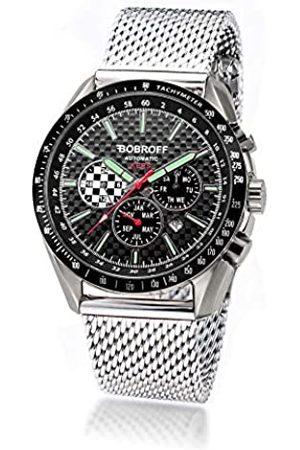 BOBROFF Reloj Analogico para Hombre Automatico con Correa En Acero BF0012V2-S001