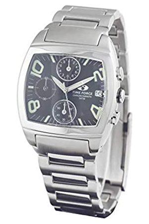 TIME FORCE Hombre Relojes - TimeForceRelojCronógrafoparaHombredeCuarzoconCorreaenAceroInoxidableTF2589M-01M
