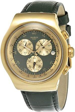 Swatch Hombre Relojes - YOG406 - Reloj analógico de Cuarzo para Hombre con Correa de Piel