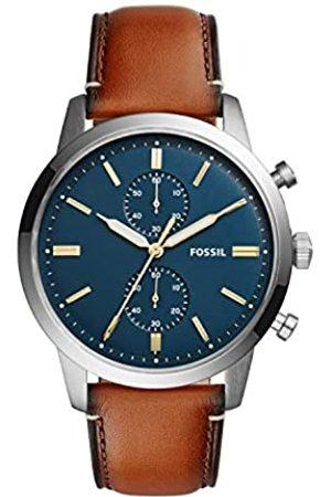 Fossil Hombre Relojes - Reloj Cronógrafo para Hombre de Cuarzo con Correa en Piel FS5279