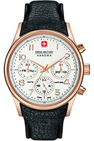 Swiss Military Hanowa Reloj Cronógrafo para Hombre de Cuarzo con Correa en Cuero SM06-4278-09-001