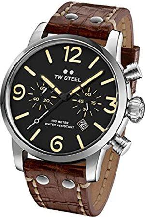 TW steel Reloj Cronógrafo para Hombre de Cuarzo con Correa en Cuero MS4