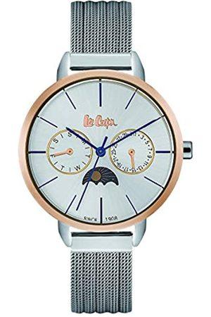 Lee Cooper Reloj analógico para Hombre de Cuarzo con Correa en Acero Inoxidable LC06482